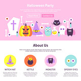 Halloween Party Website Design