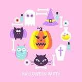 Halloween Party Trendy Poster