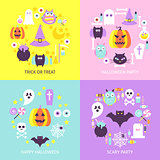 Halloween Trendy Concepts Set