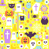 Halloween Trendy Color Seamless Pattern