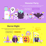 Halloween Trendy Web Banners