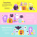 Halloween Trendy Web Horizontal Banners