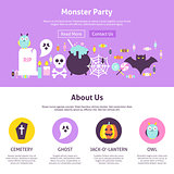 Monster Party Website Design