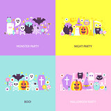 Trendy Halloween Concepts Set