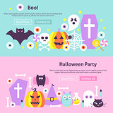Trendy Halloween Web Banners