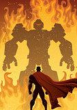 Superhero Versus Robot