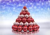 christmas theme with xmas bulbs. 3D render