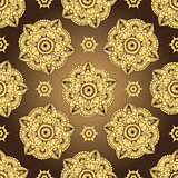 Vintage brown-gold seamless pattern
