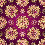 Vintage dark purple seamless pattern