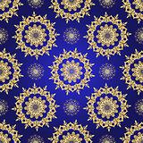 Vintage blue seamless pattern