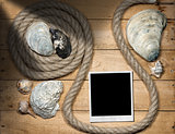 Instant Photo - Rope and Seashells