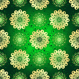 Vintage green seamless pattern