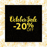 October Sale Poster