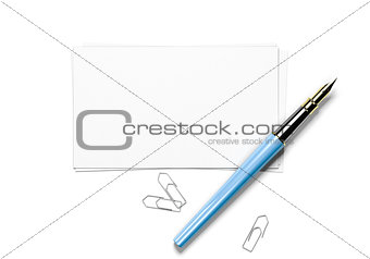 Greeting card over white