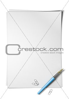 Blank Page, Sheet of Paper