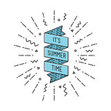 it is summer time. Inspirational vector illustration, motivational quotes poster