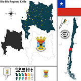 Map of Bio Bio, Chile