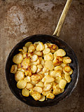 rustic golden german pan fried potato bratkartofflen