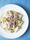 rustic mediterranean grill squid