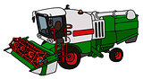 Green and white harvester