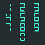 A set of numbers, vector illustration.