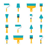 Set of icons of tool, vector illustration.