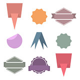 Set paper design elements, vector illustration.