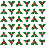 Vector cute Christmas and New year seamless mistletoe pattern card background