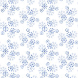 Snowflake Pattern - Snowflake vector pattern. Seamless for cards and web