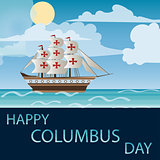 Happy Columbus Day Vector illustration