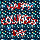 Vector illustration Stylish text Columbus Day abstract backgroun