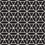 Vector Seamless Black and White Rounded Shapes Floral Pattern