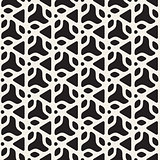 Vector Seamless Black and White Rounded Triangle Shapes Pattern
