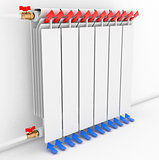 Radiator. Directional arrows Convention 3D illustration