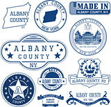 generic stamps and signs of Albany county, NY