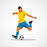 ball, soccer, player