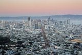 Downtown San Francisco from Twin Peaks, Dusk