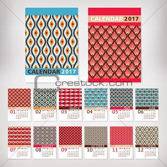 2017 year stylish calendar