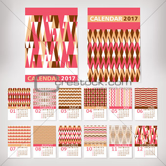 2017 year stylish calendar