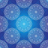 Seamless dark blue christmas pattern