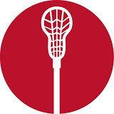Lacrosse Stick Circle Icon