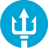 Trident Circle Icon
