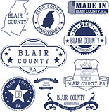 generic stamps and signs of Blair county, PA