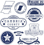 generic stamps and signs of Cambria county, PA