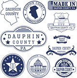 generic stamps and signs of Dauphin county, PA