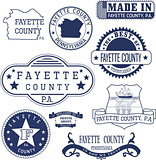 generic stamps and signs of Fayette county, PA