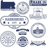 generic stamps and signs of Harrisburg city, PA
