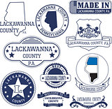 generic stamps and signs of Lackawanna county, PA