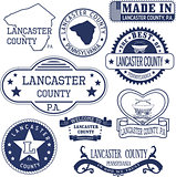 generic stamps and signs of Lancaster county, PA
