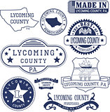 generic stamps and signs of Lycoming county, PA